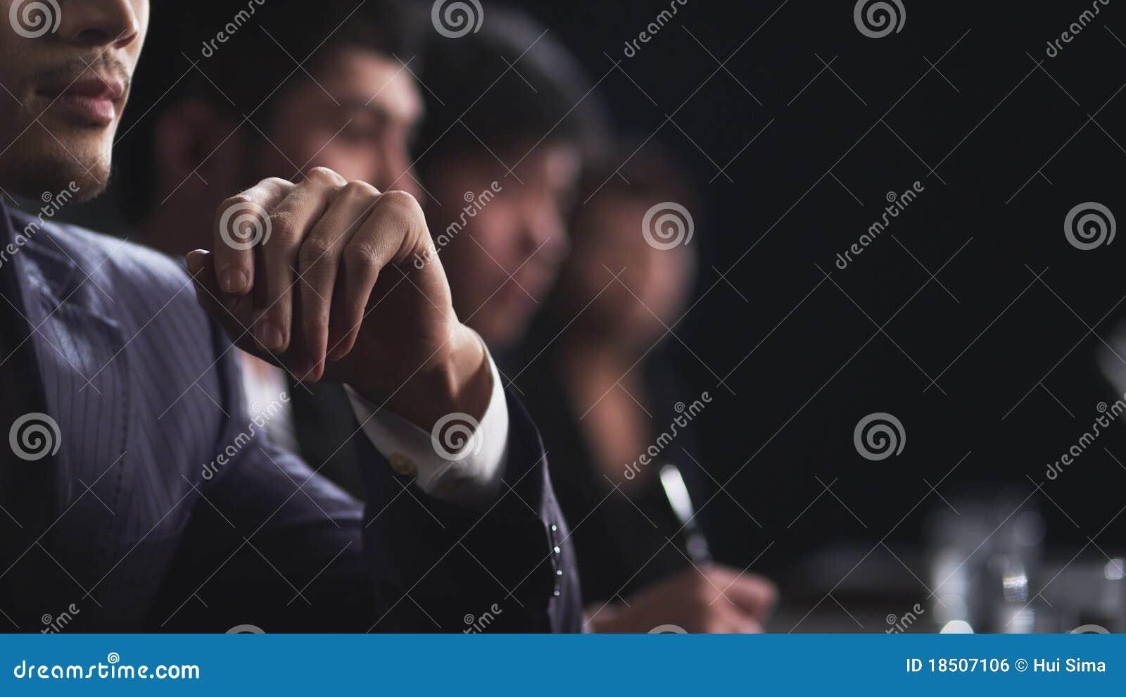 Hombres de negocios en la reunión