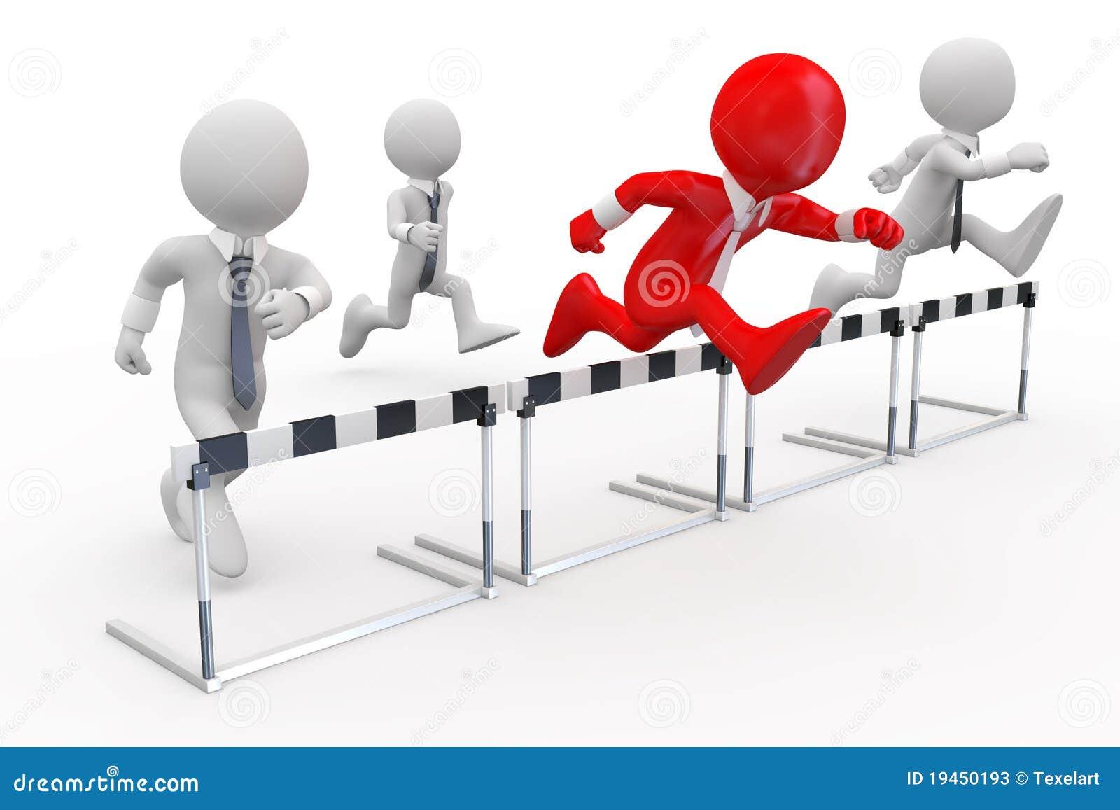 Hombres de negocios en una carrera de vallas stock de - Imagen de vallas ...