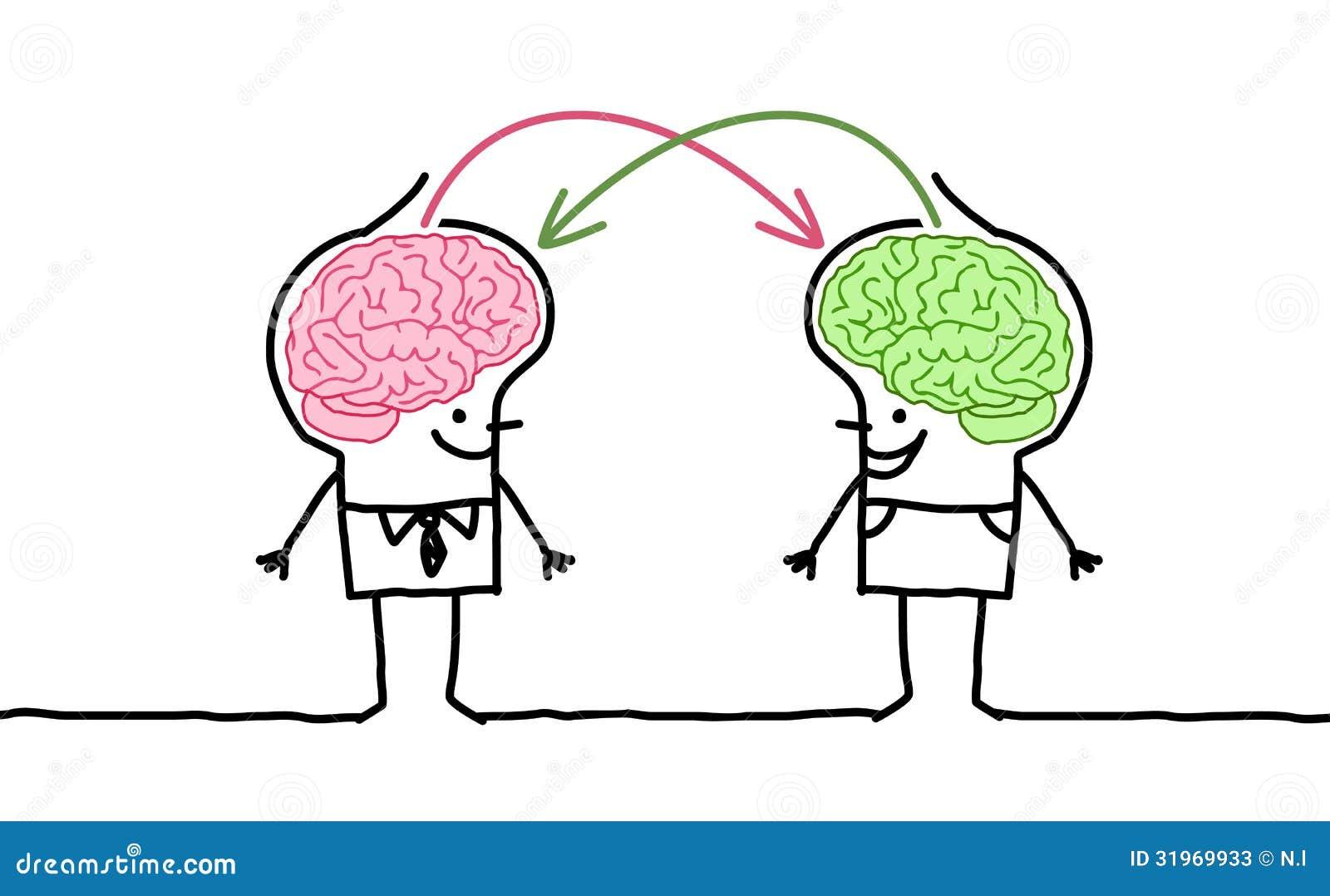 Hombres grandes y intercambio del cerebro