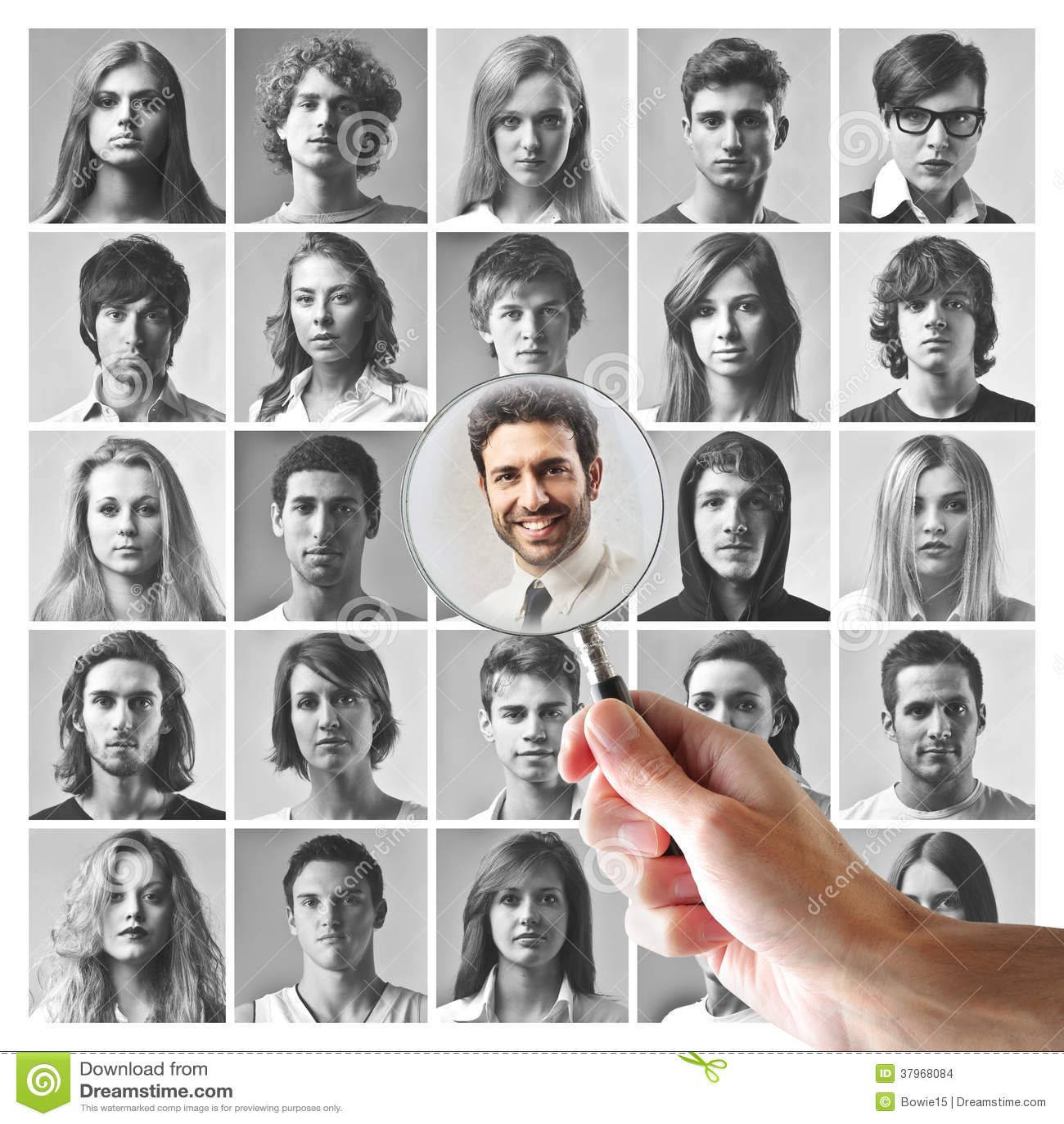 Hombres jovenes y mujeres