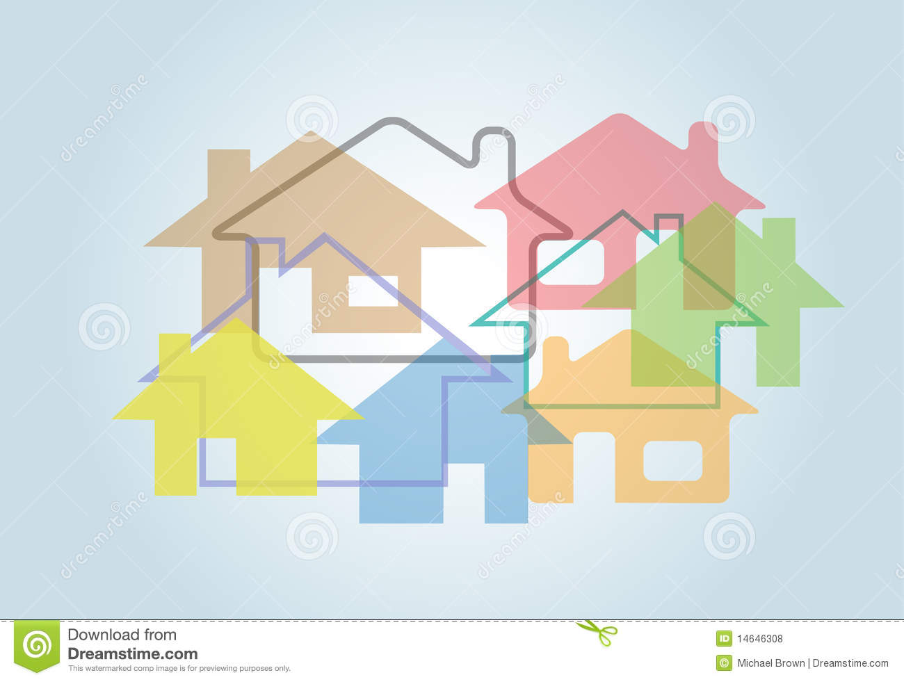 home abstract house shapes houses background royalty free stock