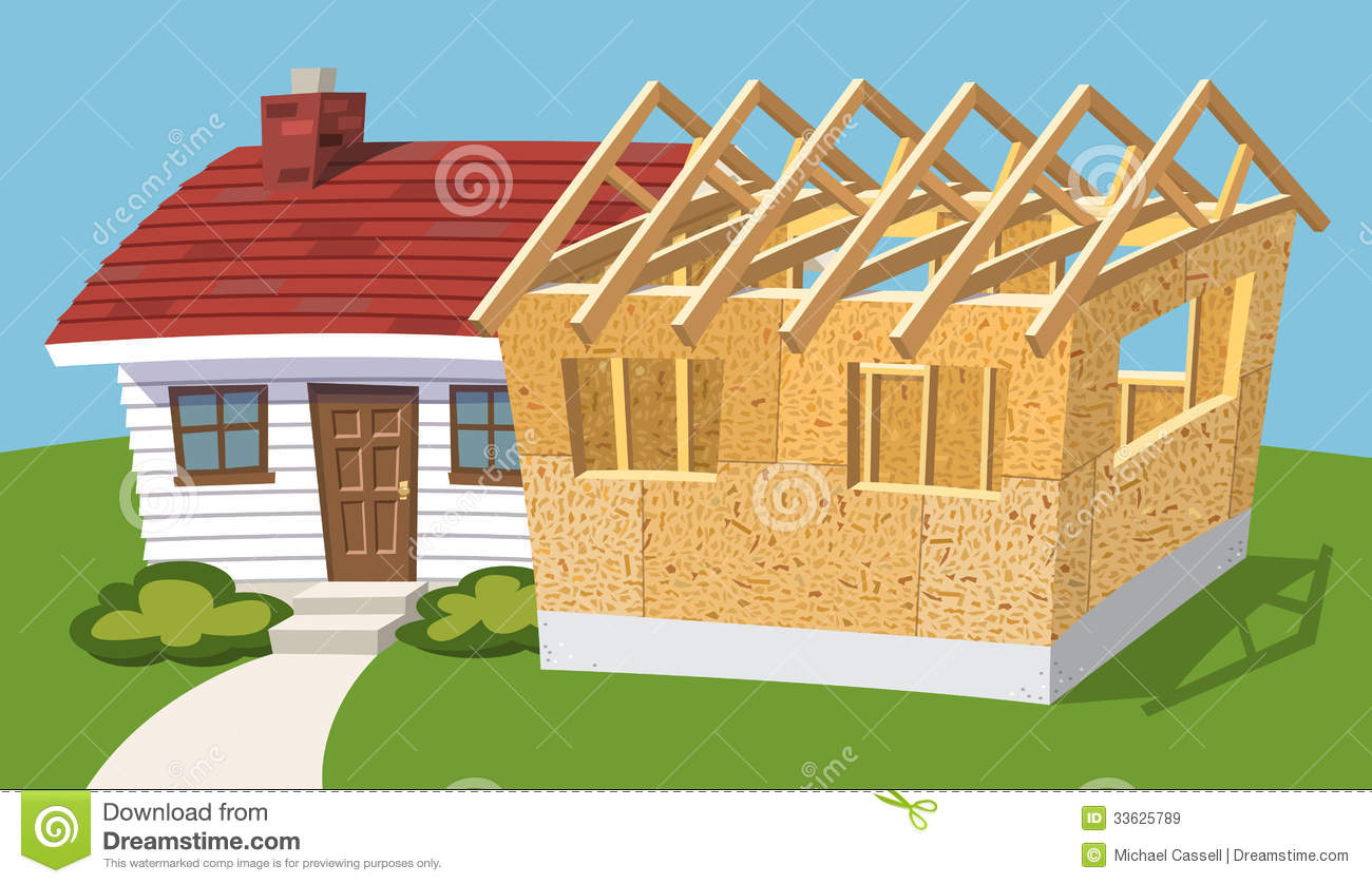 Home Addition Stock Vector Illustration Of Remodel