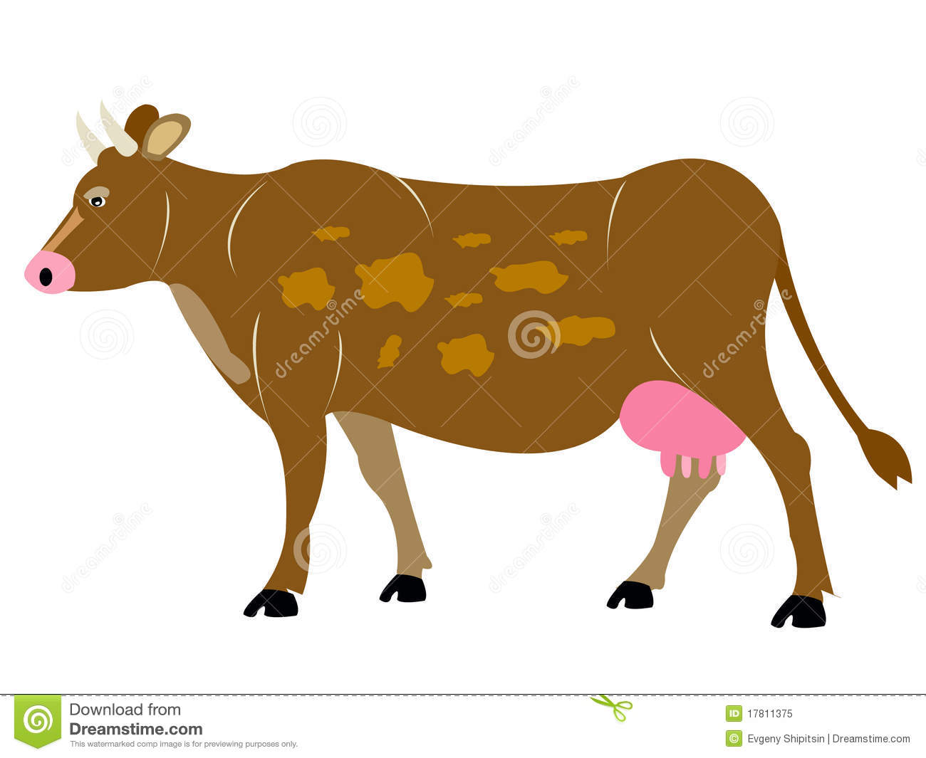 Home Animal Cow Royalty Free Stock Photo