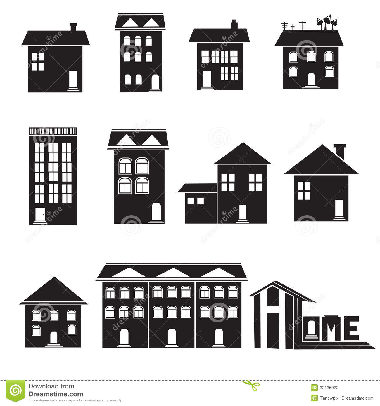 Home and apartment icons set stock illustration for Apartment floor plans vector