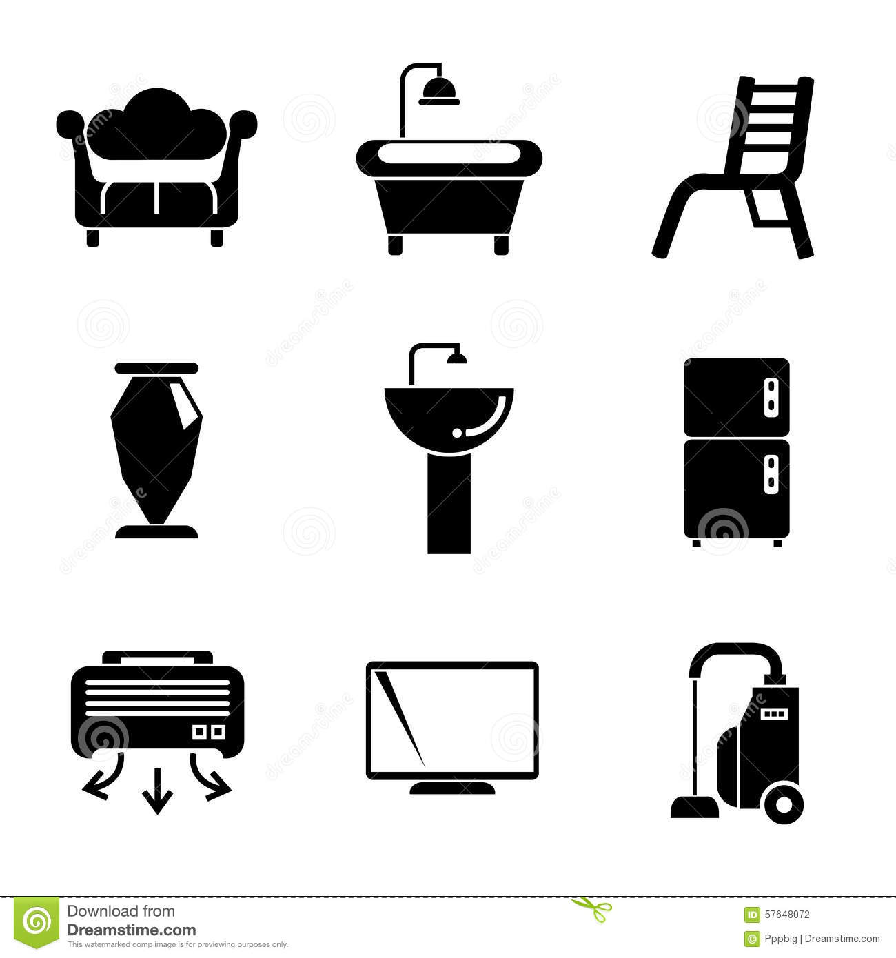 home appliance icons stock illustration  illustration of