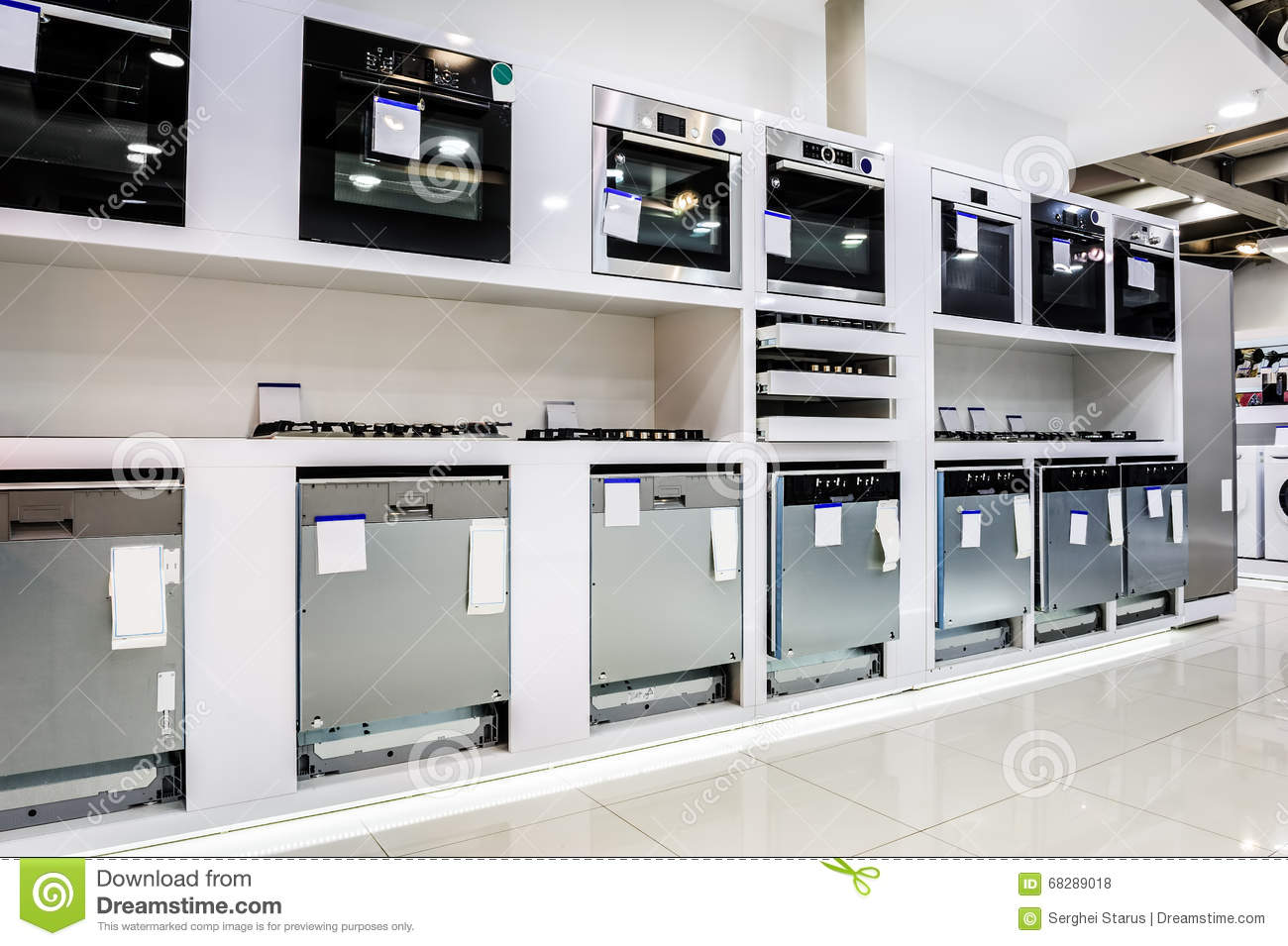 Home Appliance In The Store Stock Photo Image Of Machine
