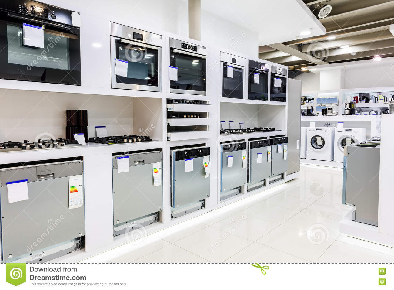 Home Appliance In The Store Stock Photo - Image of housework ...