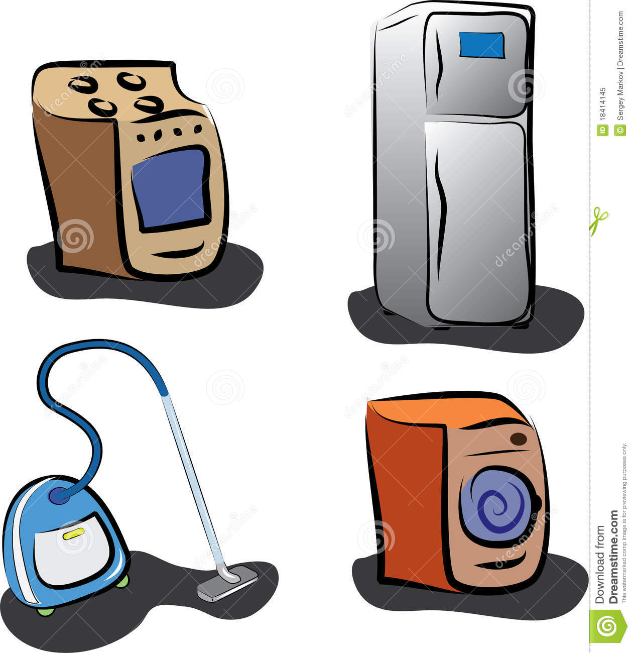 Kitchen Appliances Clip Art ~ Home appliances stock vector illustration of icon