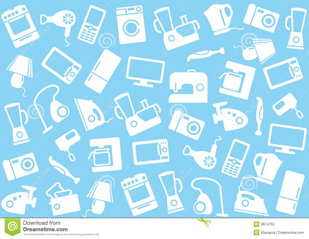 home appliances a background stock vector illustration office floor plan icons