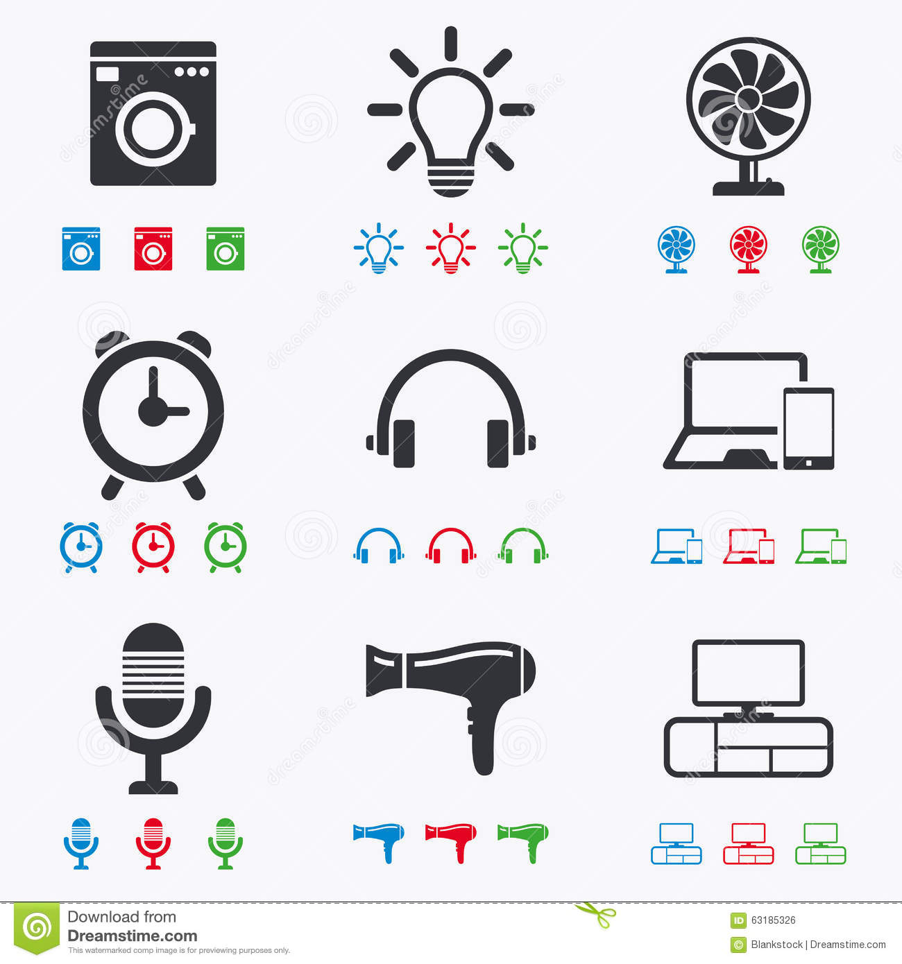 Home appliances device icons ventilator sign stock vector home appliances device icons ventilator sign biocorpaavc Image collections