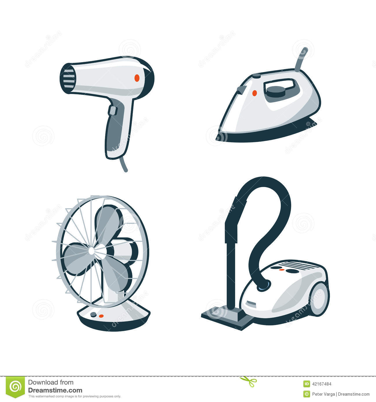 Animated Hair Dryer ~ Home appliances hair dryer iron fan vacuum cleaner