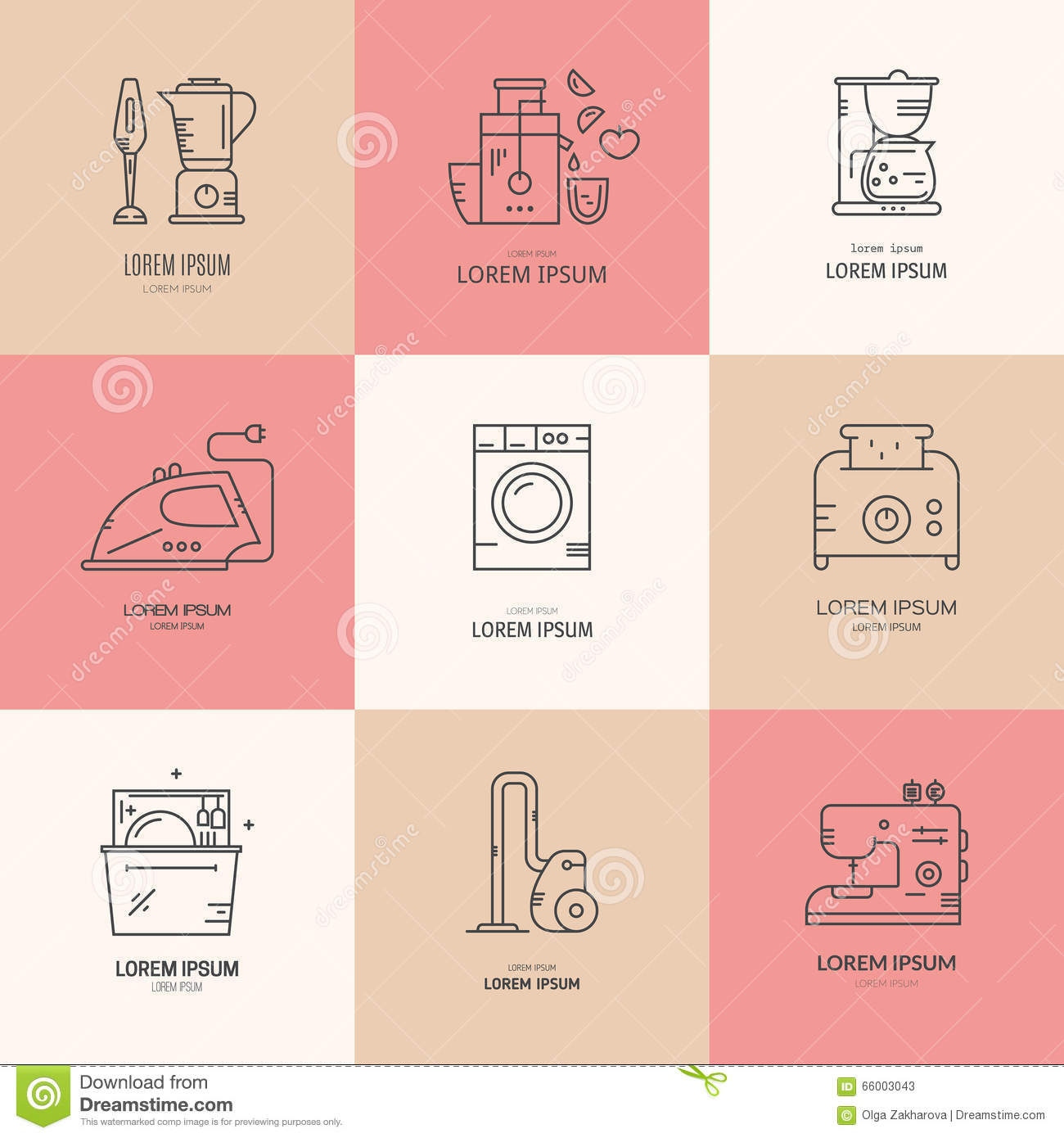 Pictures of different home appliances