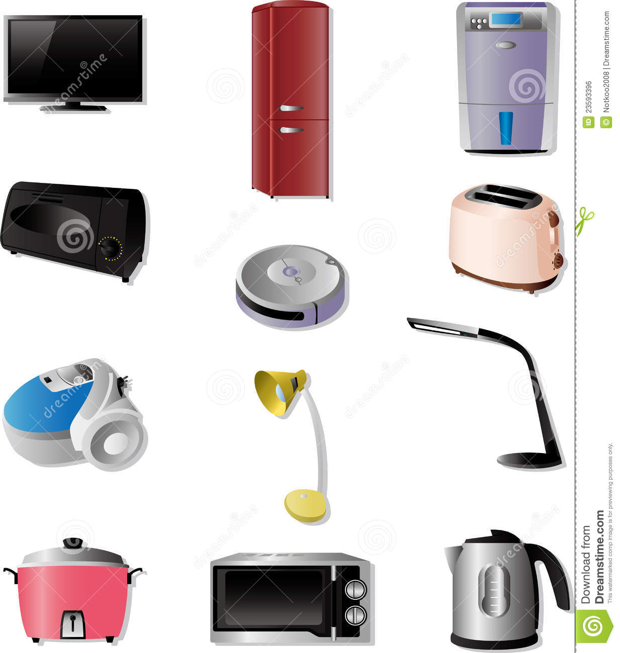 home appliances icons royalty free stock image image 23593396. Black Bedroom Furniture Sets. Home Design Ideas