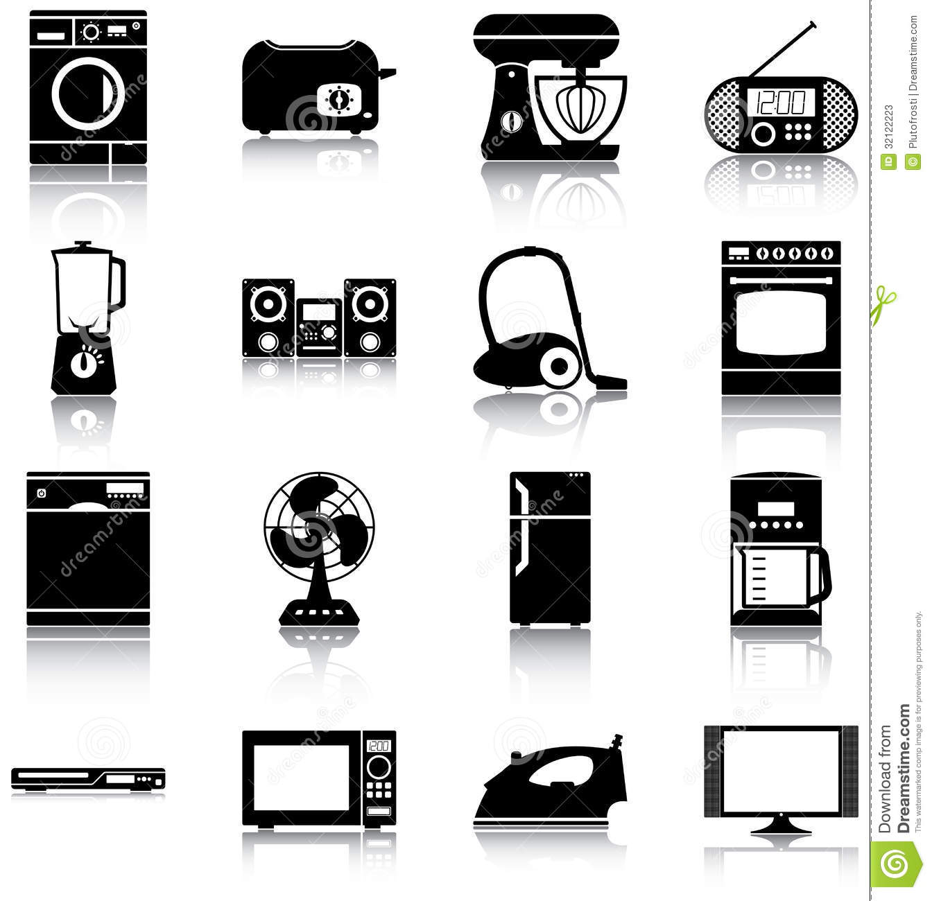 Home Appliances Stock Vector Image Of Illustration
