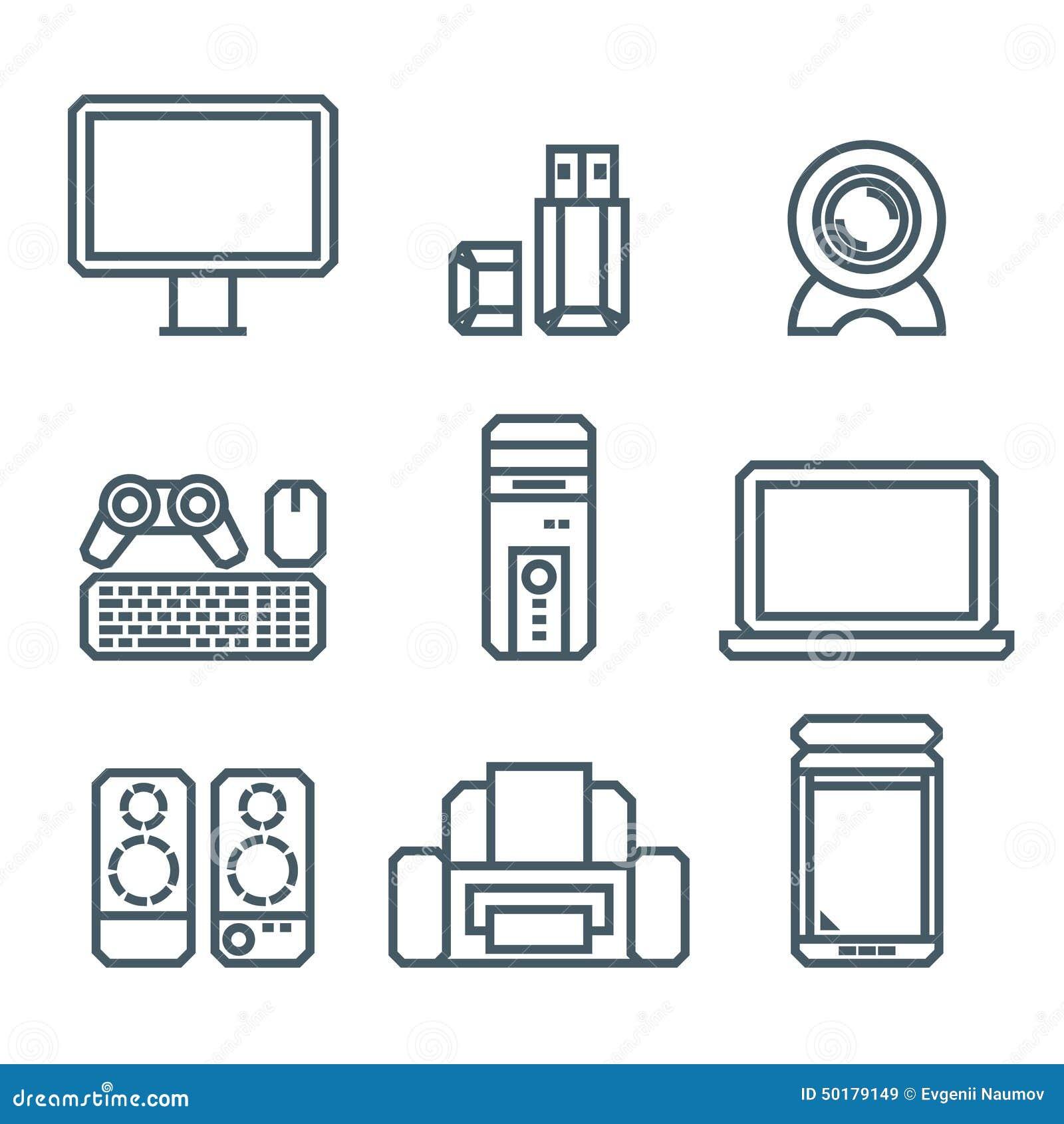 Home Appliances Modern Linear Modern Concept Stock Vector