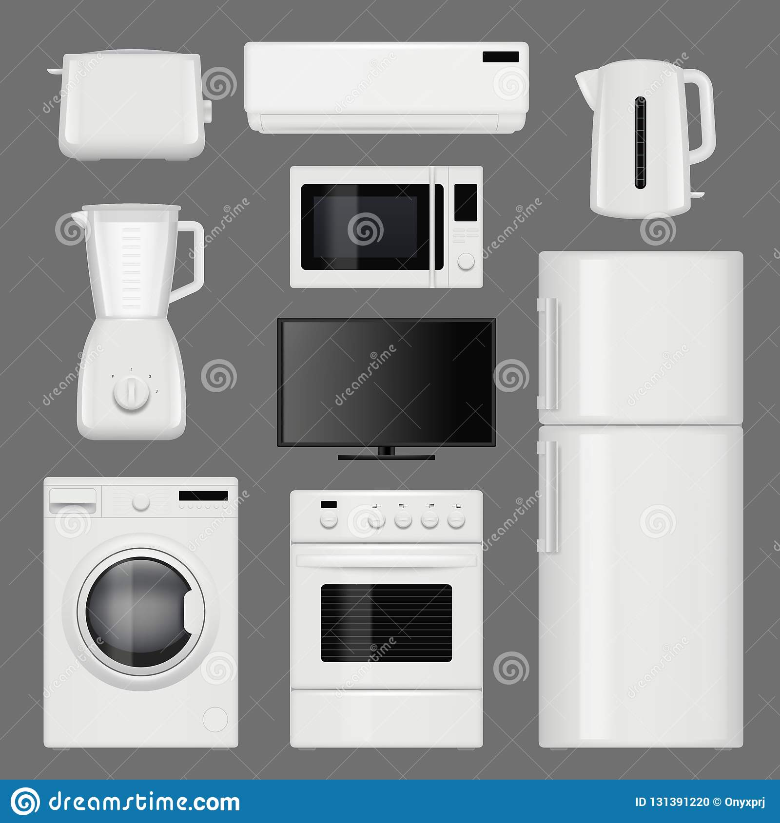 Home Appliances Realistic. Modern Stainless Steel Kitchen Tools