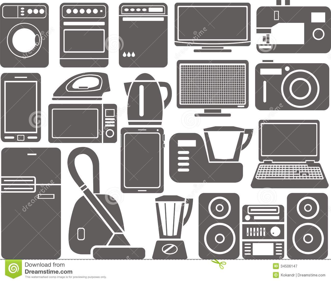 Home Appliances Royalty Free Stock Photography - Image: 34506147