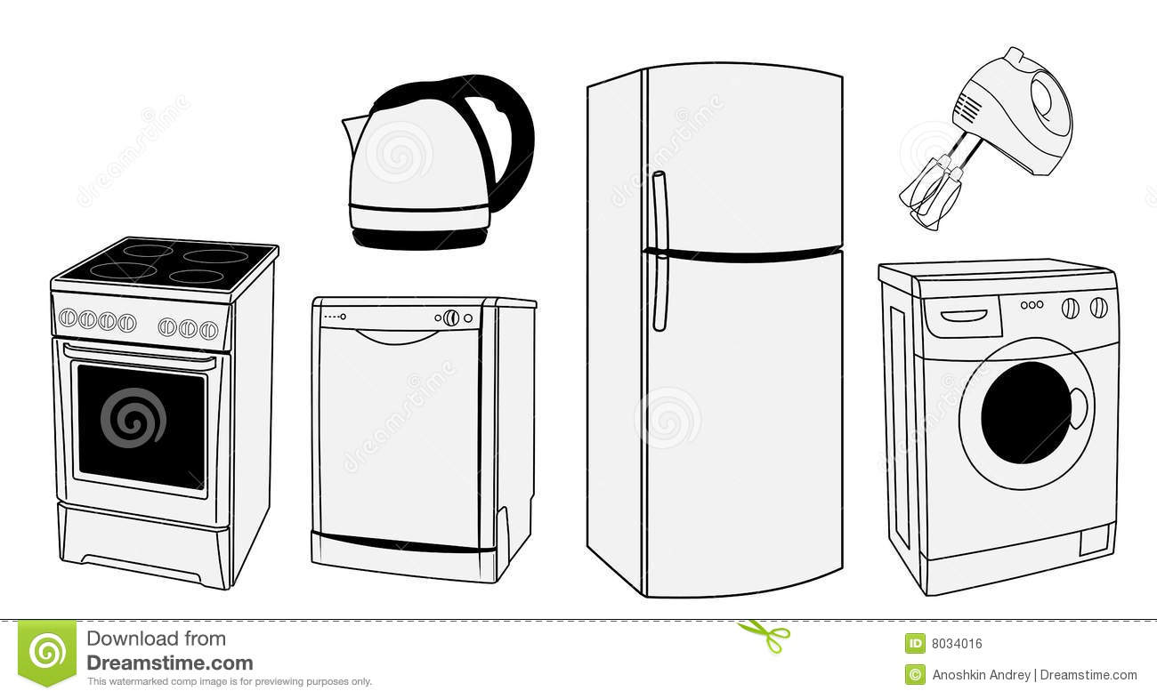 Royalty free stock image home appliances vector