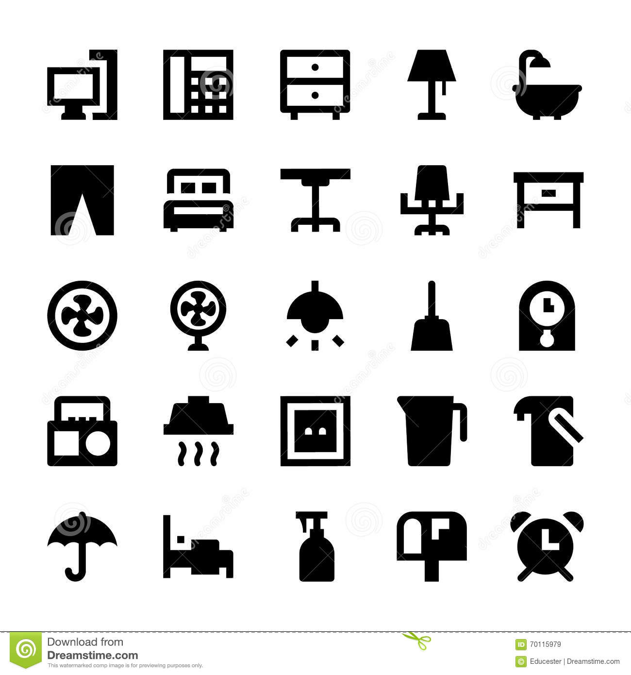 Home Appliances Vector Icons 3 Stock Illustration Image  : home appliances vector icons icon pack absolutely bursting resources you will love to use your next 70115979 from www.dreamstime.com size 1300 x 1390 jpeg 93kB