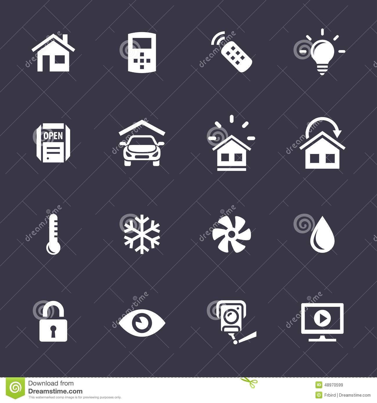 Home Automation Control Systems Icons Stock Vector - Image ... Home Automation System Icon