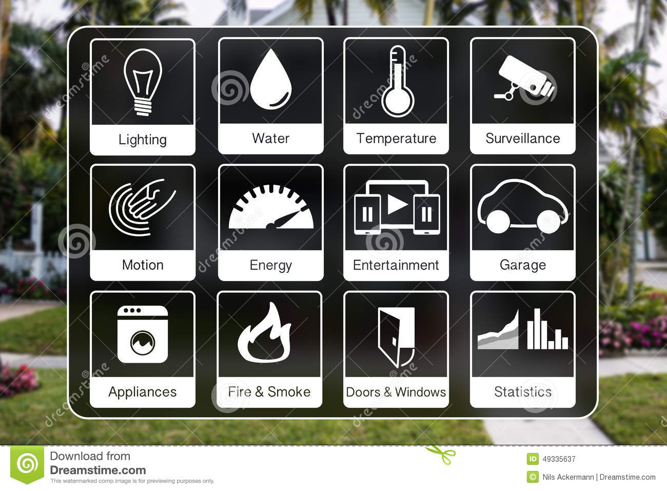 Garage door prices - Home Automation Icons To Control A Smart Home Like Light