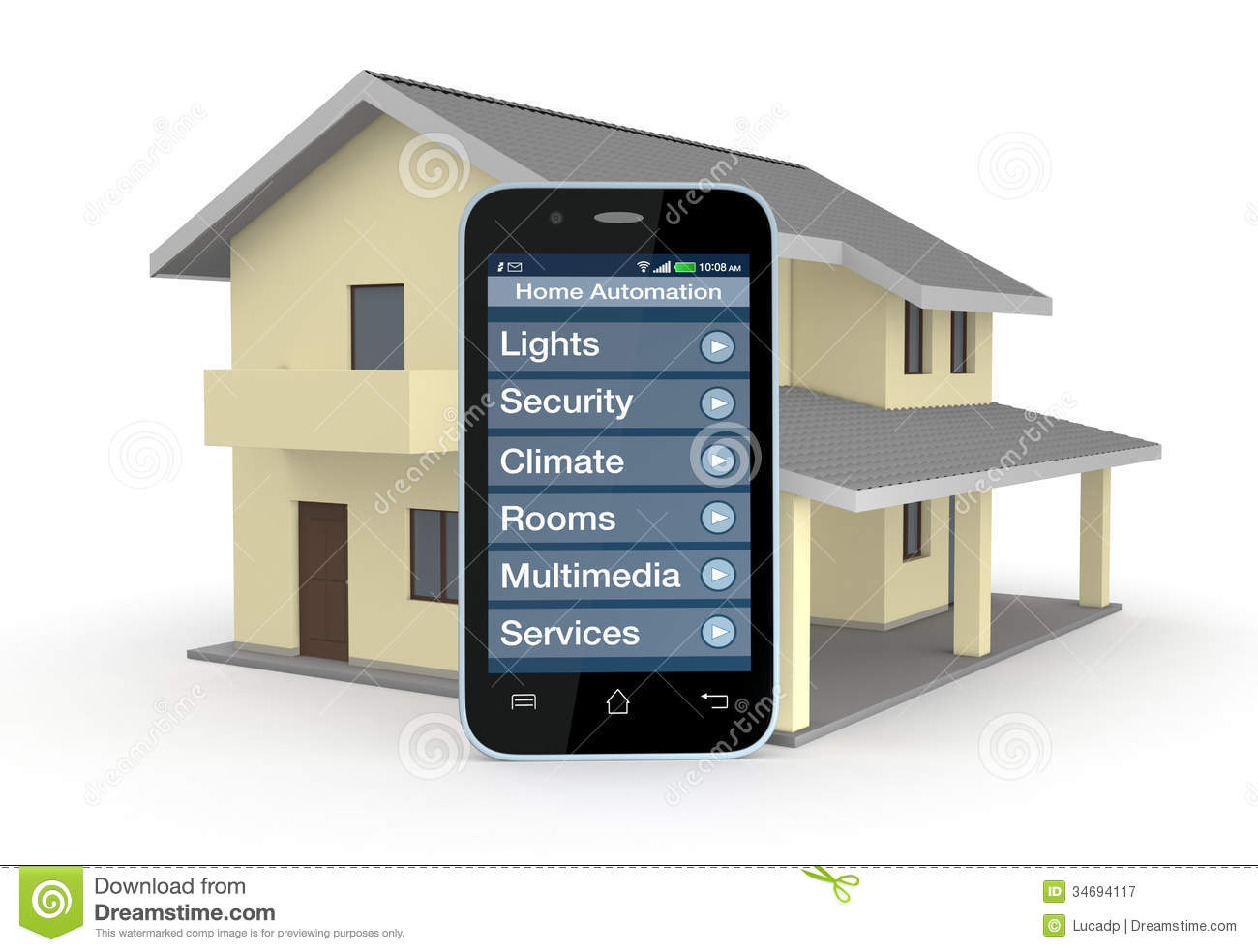 Pics photos cell phone clip art mobile phone icon royalty mobile - Home Automation Royalty Free Stock Photography Image