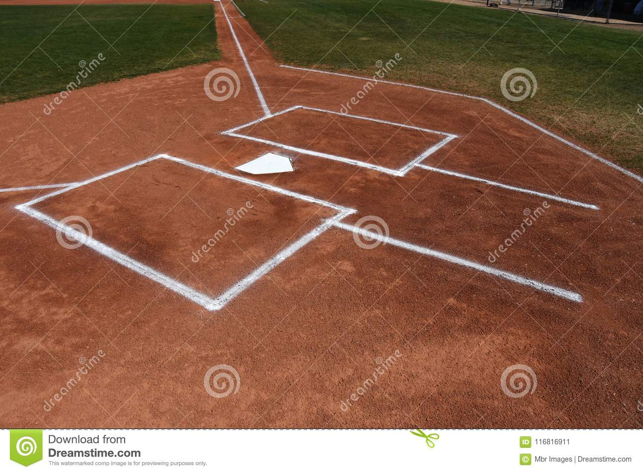 Surprising Baseball Home Plate And Batters Box Stock Image Image Of Beutiful Home Inspiration Cosmmahrainfo