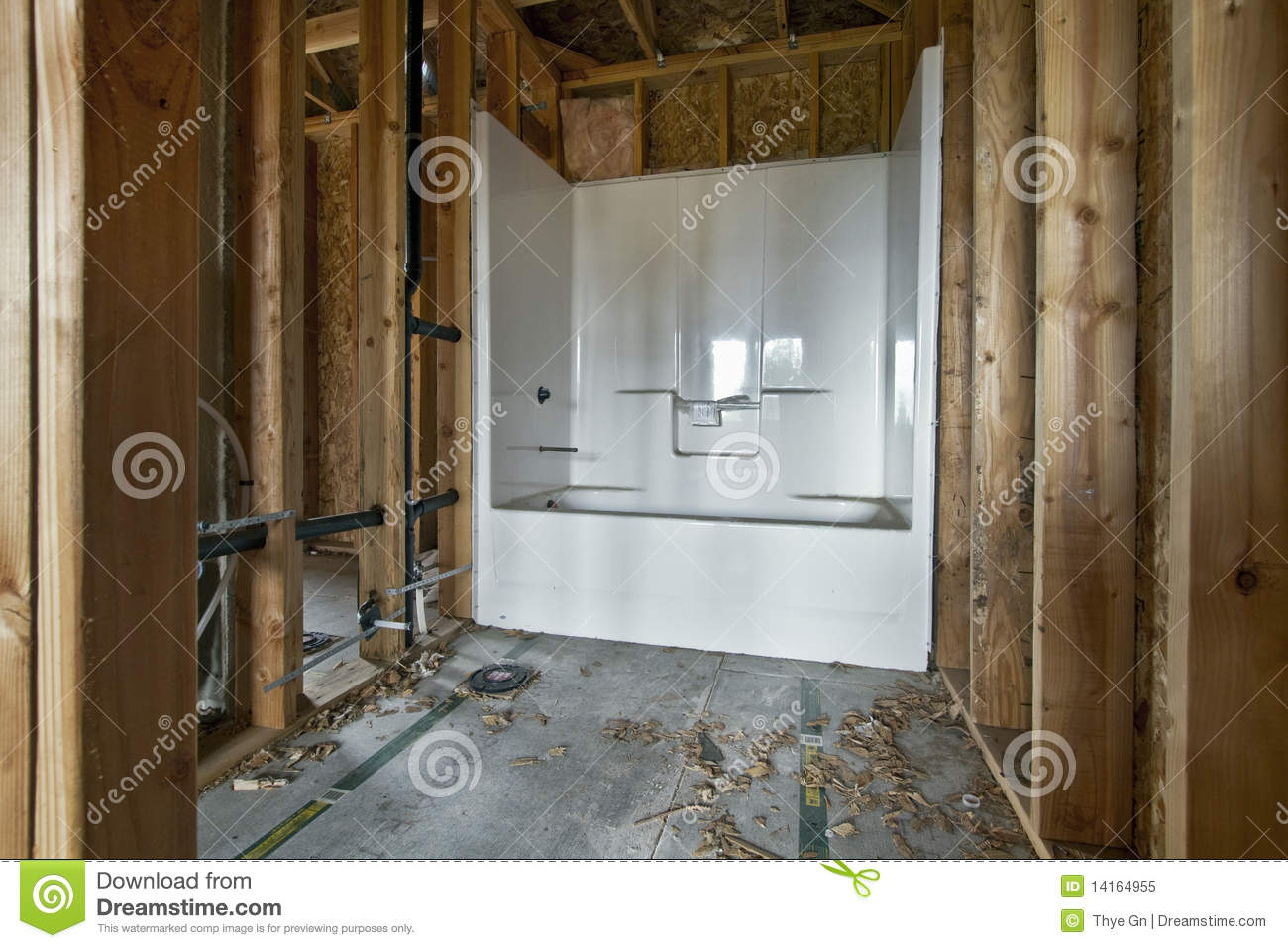 Home Bathroom Construction 2 Stock Image Image 14164955
