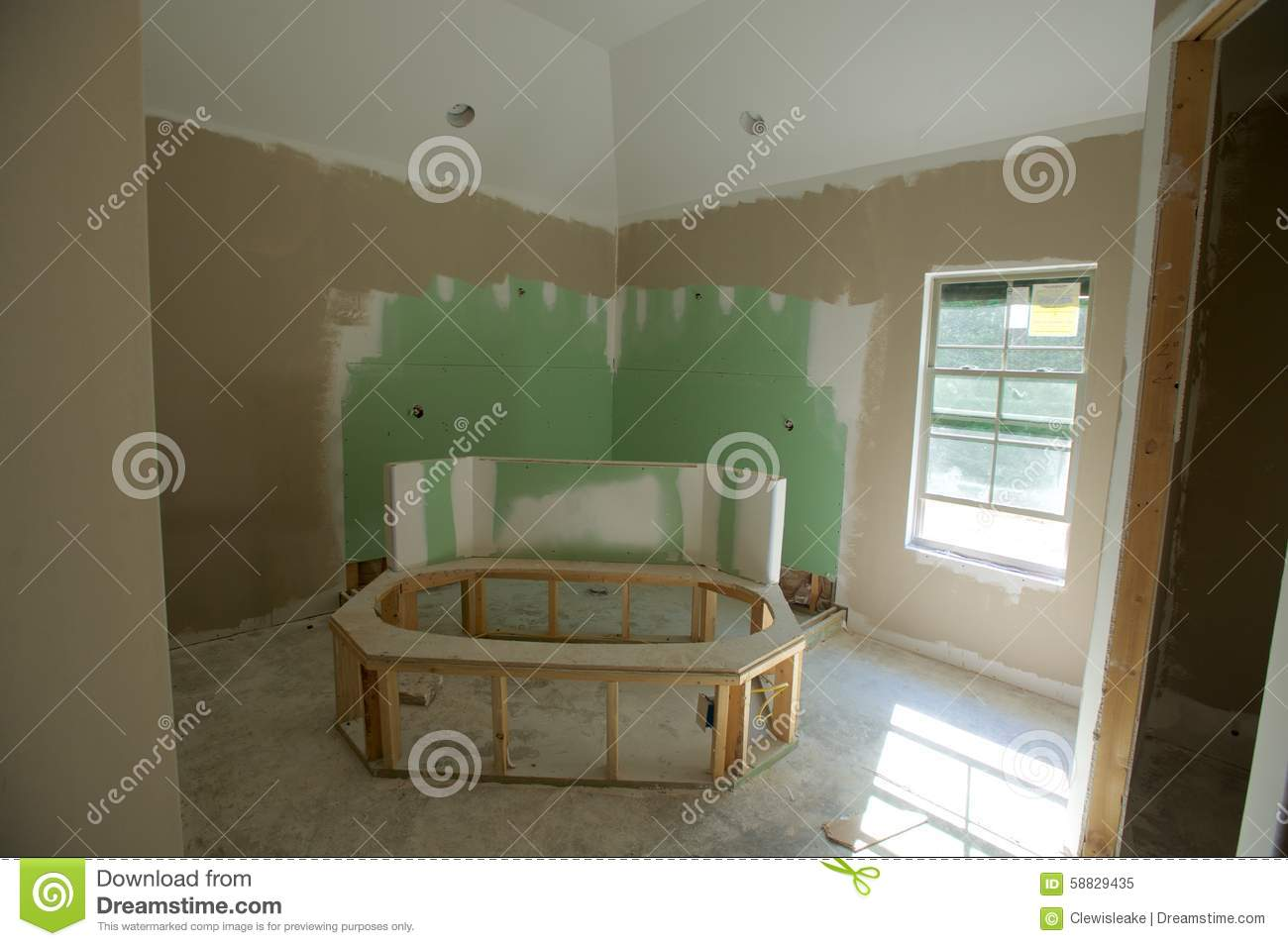Home Bathroom Remodeling Project Stock Photo Image 58829435