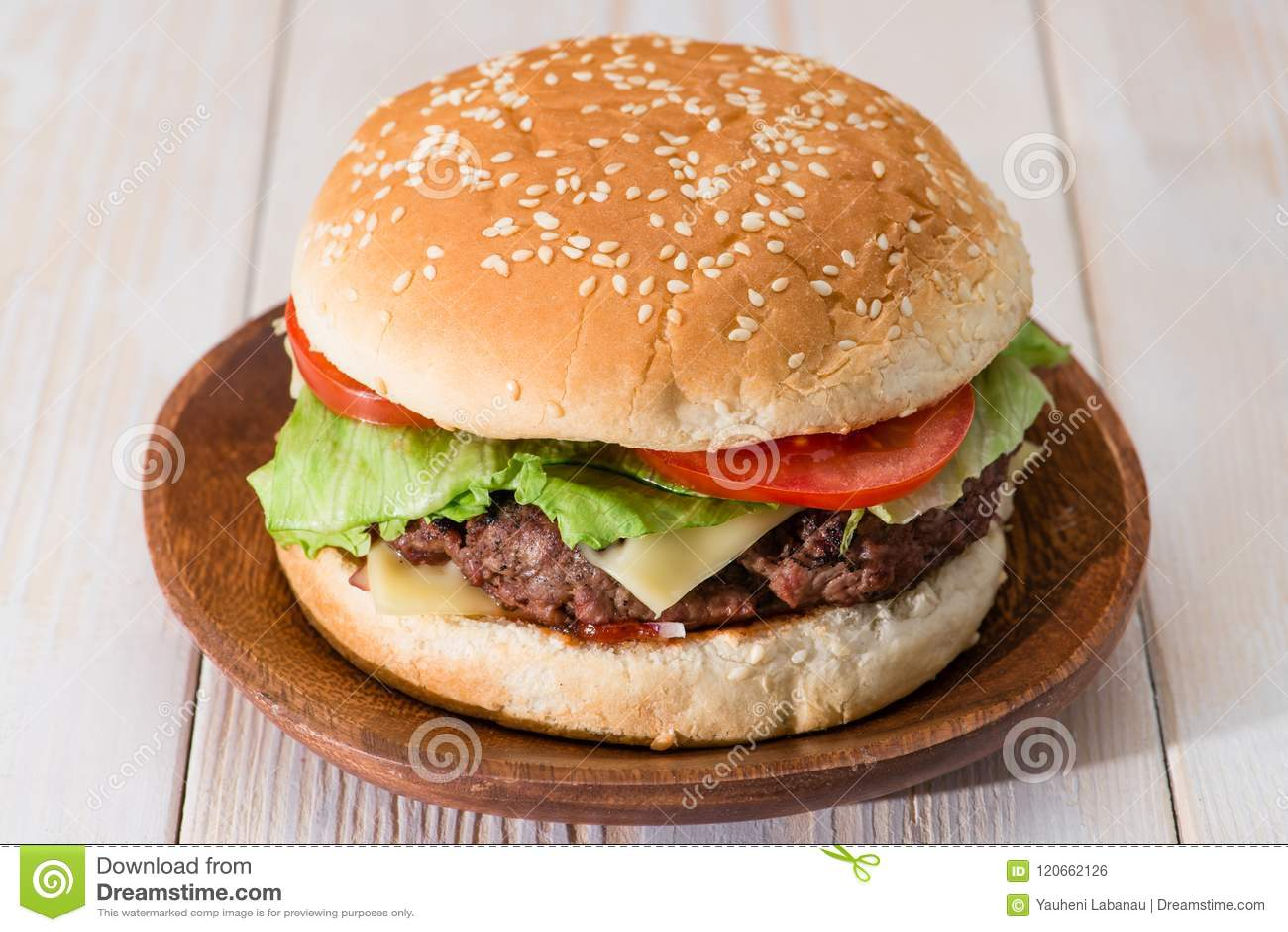 classic burger close-up