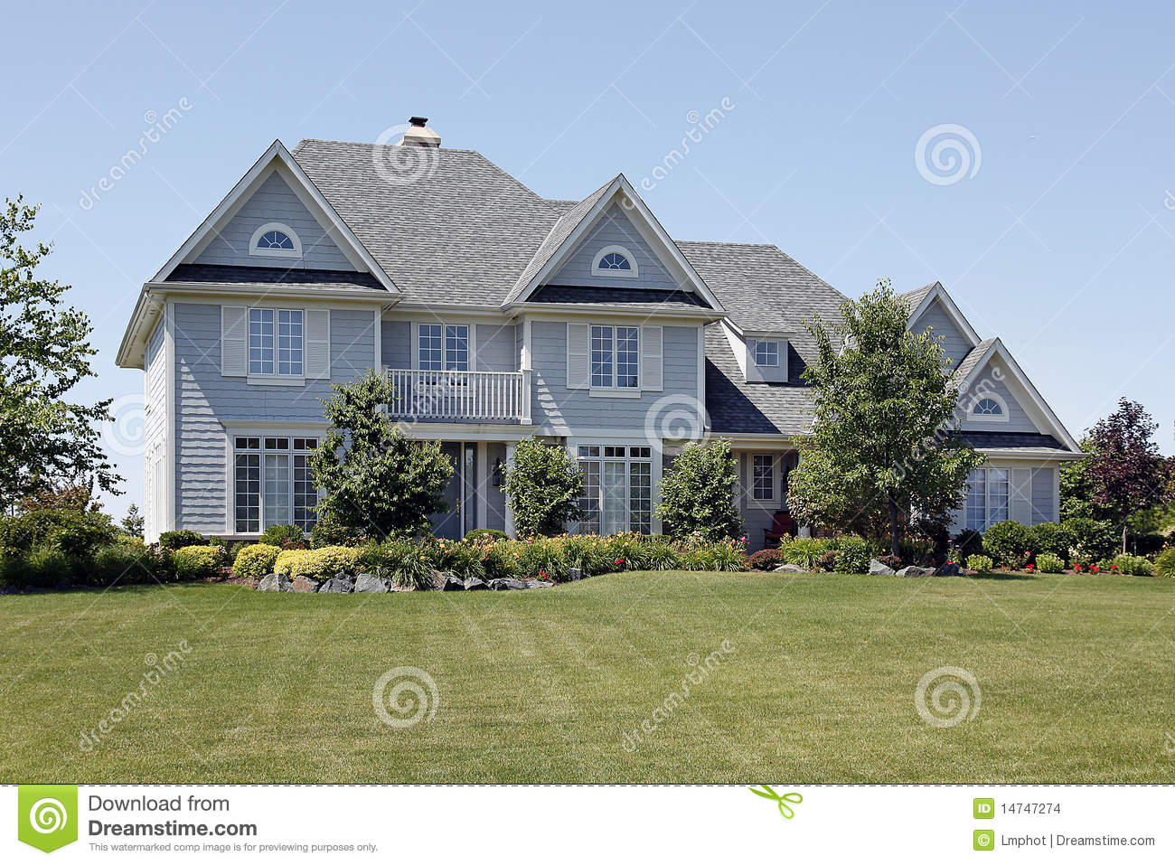 Home with blue siding stock images image 14747274 for Blue siding house