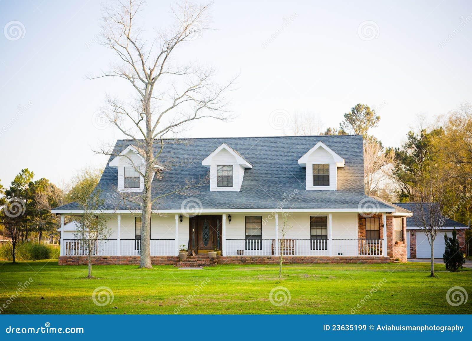 Home branca do americano do estilo do rancho imagens de stock royalty free imagem 23635199 - American home decor property ...