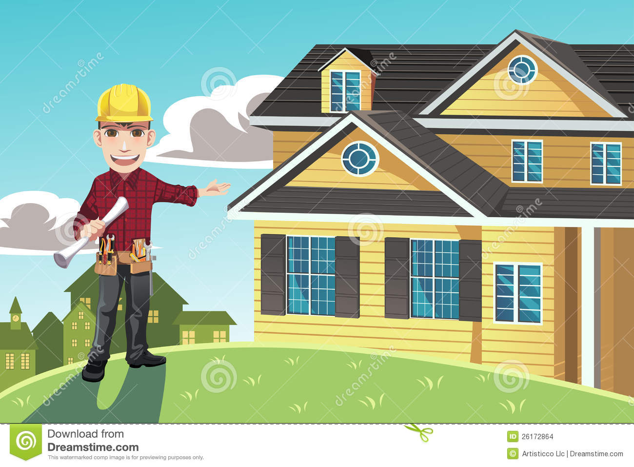 Home builder stock vector image of vector smiles for Homebuilder com