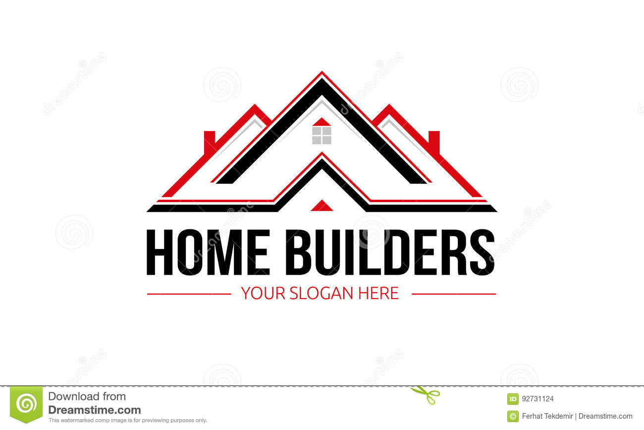 Home builders logo stock photography for Minimalist house logo