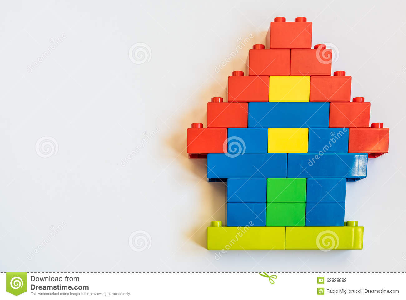 Home building blocks with plastic toy stock image image for Plastic building blocks home construction