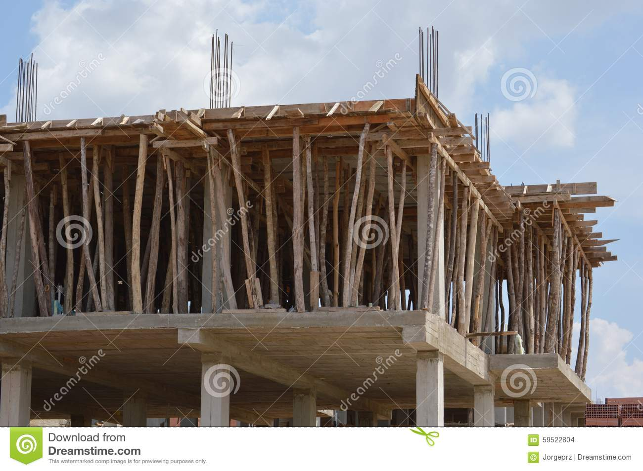 Home building construction stock photo image of for Concrete home construction