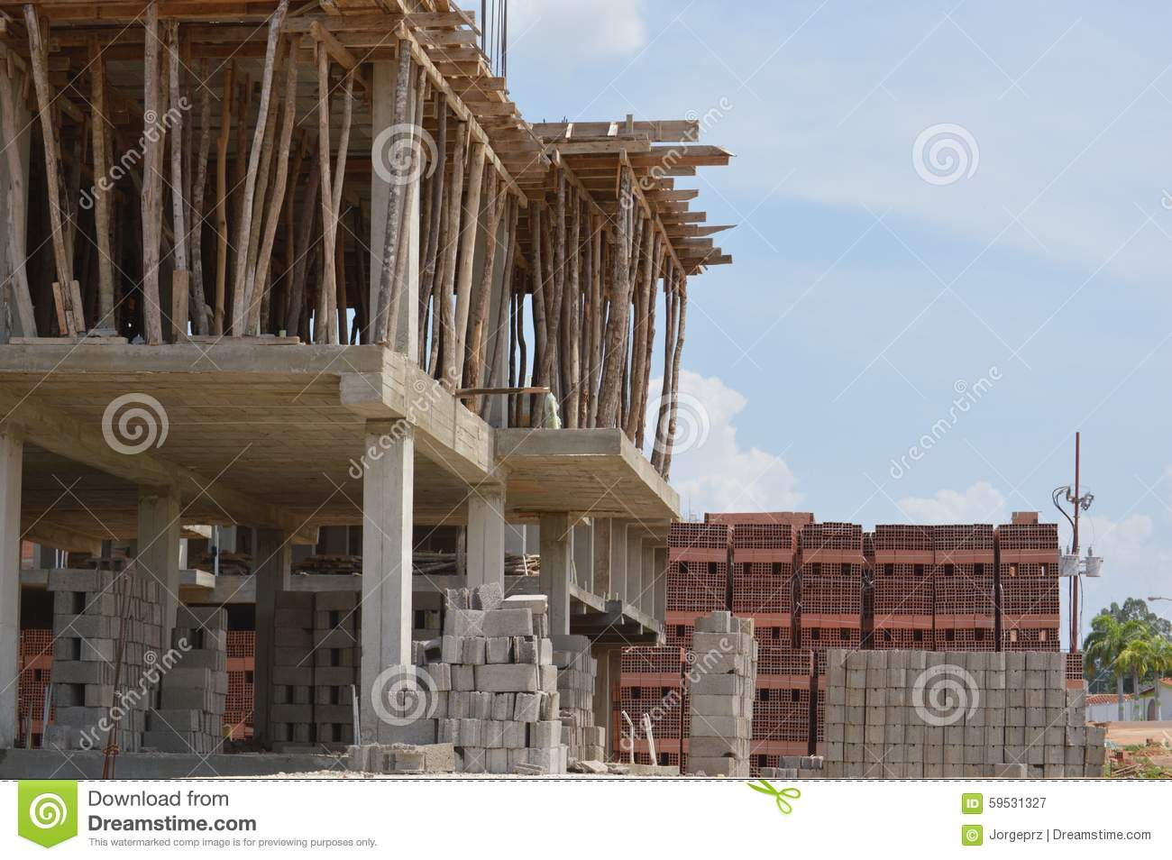 Home building construction stock image image of bars for Where to start when building a house