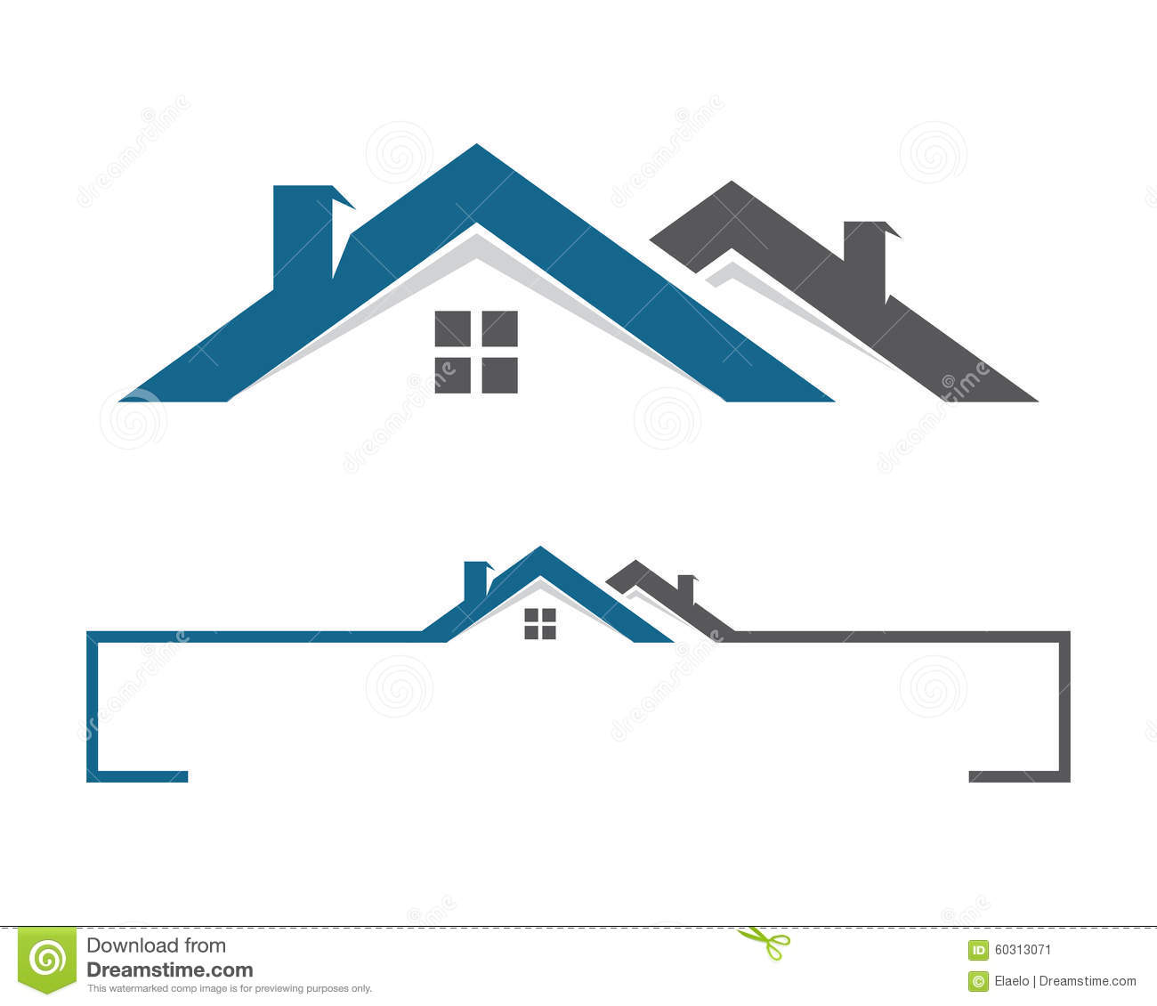 Builder Home Plans Home And Building Logo Stock Vector Image 60313071