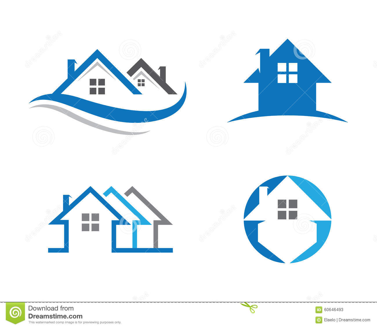Home and building logo stock vector image 60646493 for House design company