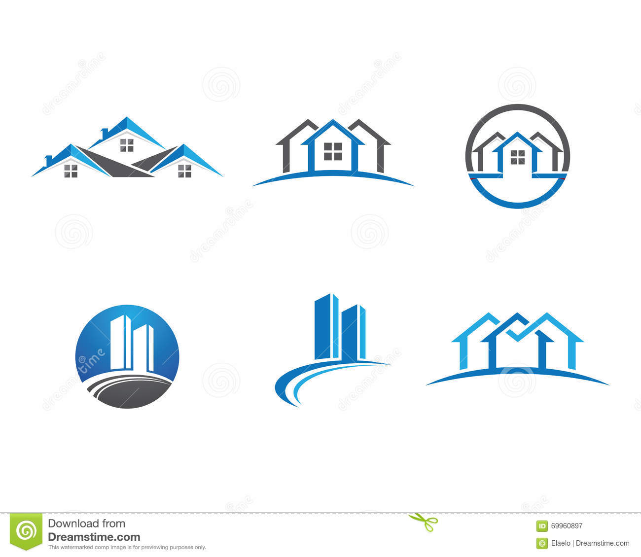 Home and building logo stock vector illustration of for Societe construction immobiliere