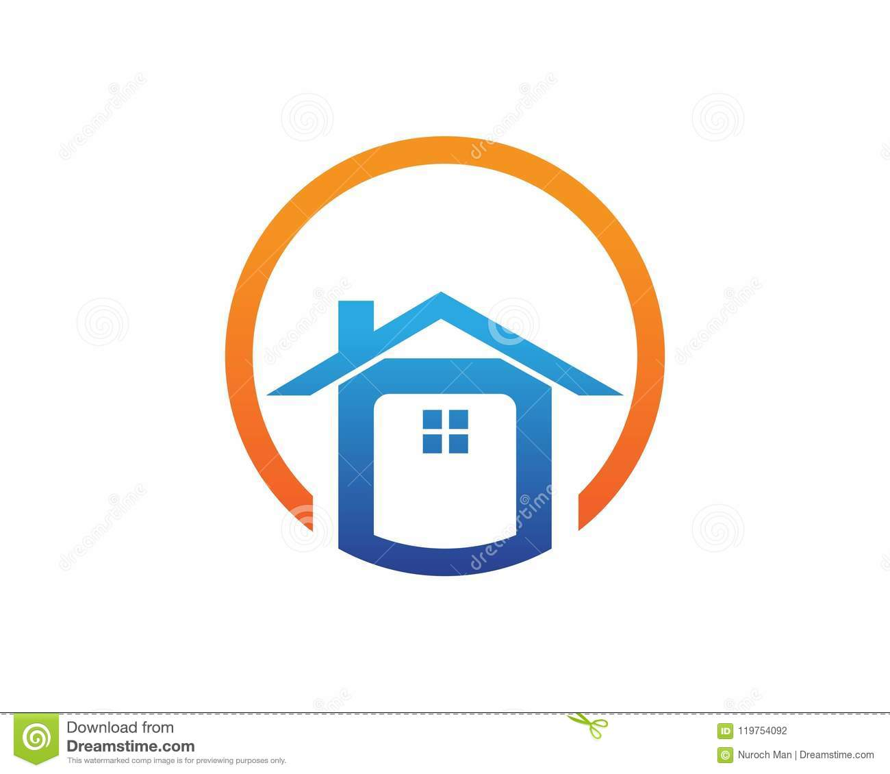 home buildings logo and symbols icons template stock vector