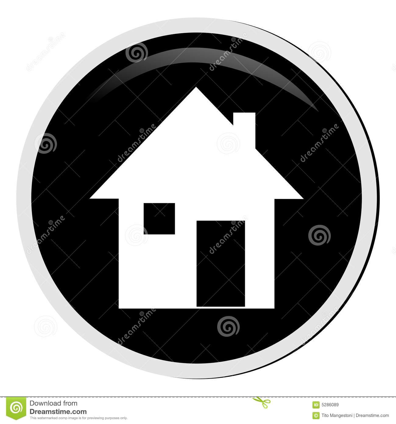 Red home button stock illustration. Illustration of