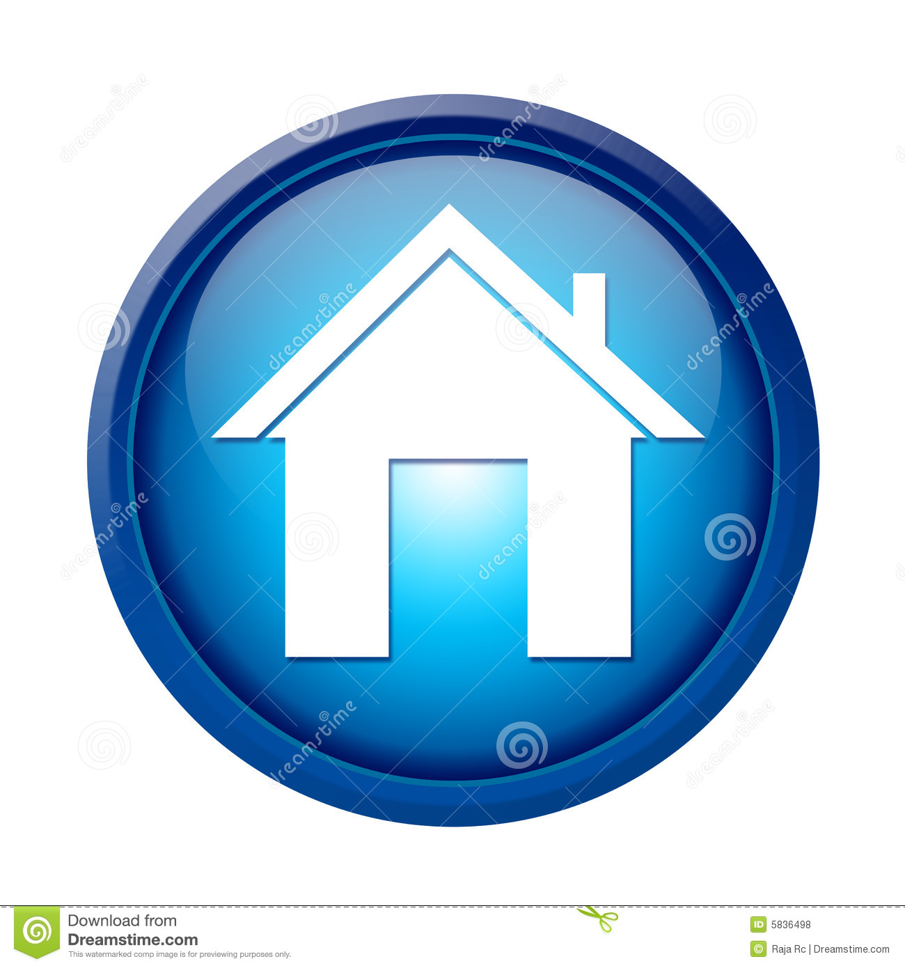 Home Button Stock Illustration Illustration Of Site