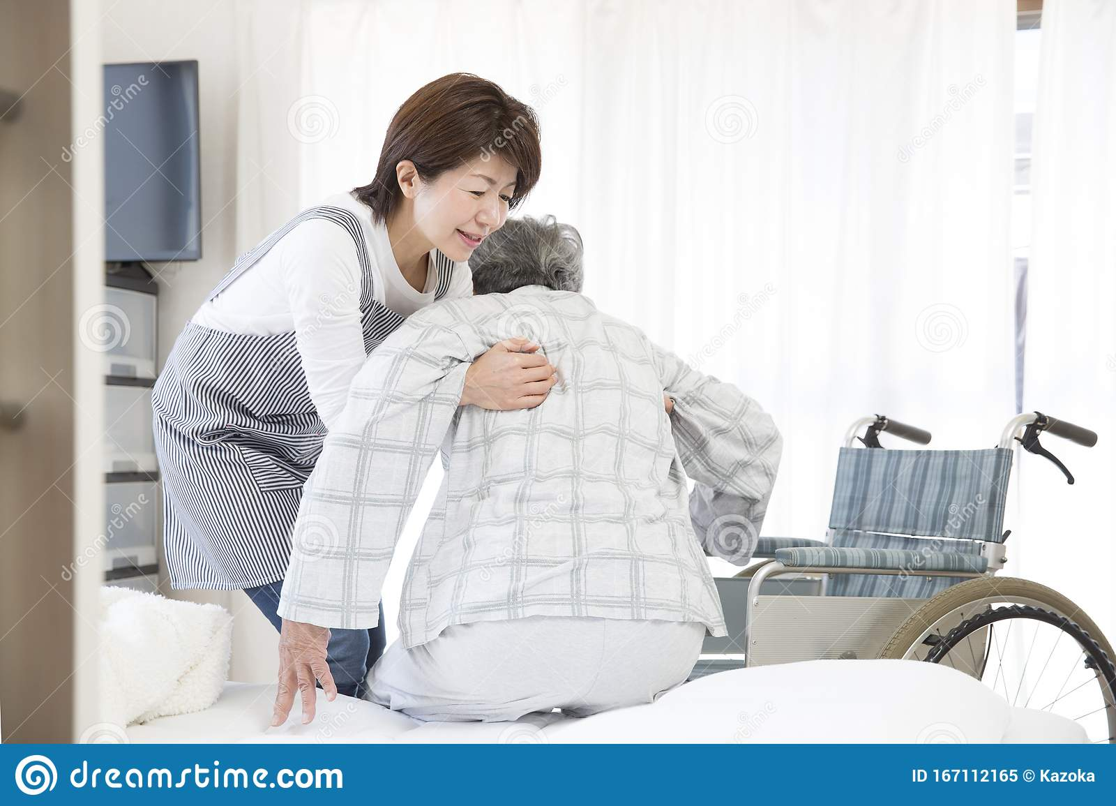 Home Care Helper To Help Move Stock Image Image Of Father Residential 167112165