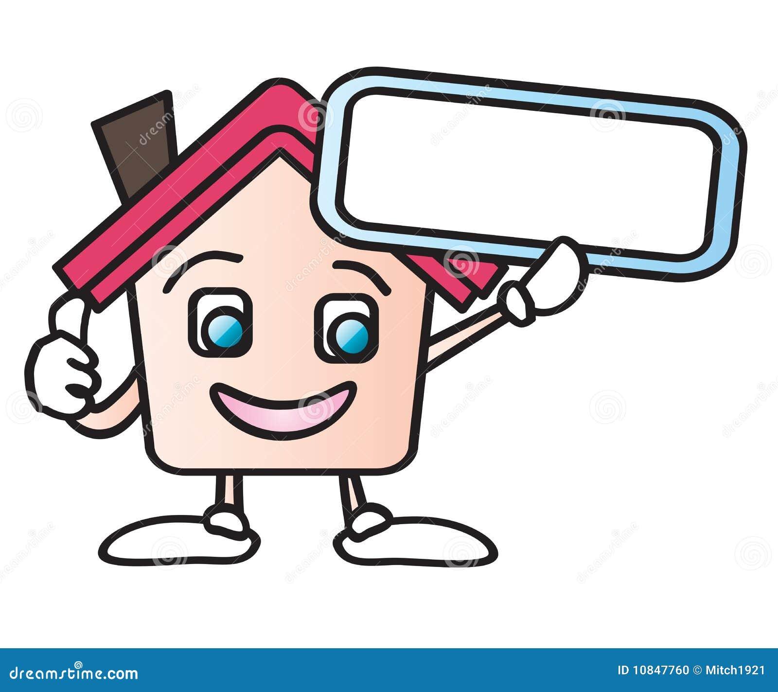 Home Cartoon Sign Stock Photo Image 10847760
