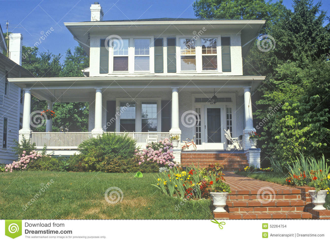 Home in chevy chase maryland stock photo image 52264754 - Maison ecologique maryland chavy chase ...