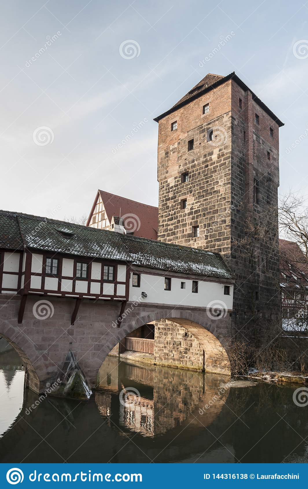 Home of the city`s official executioner Henkerhaus of the city of Nuremberg