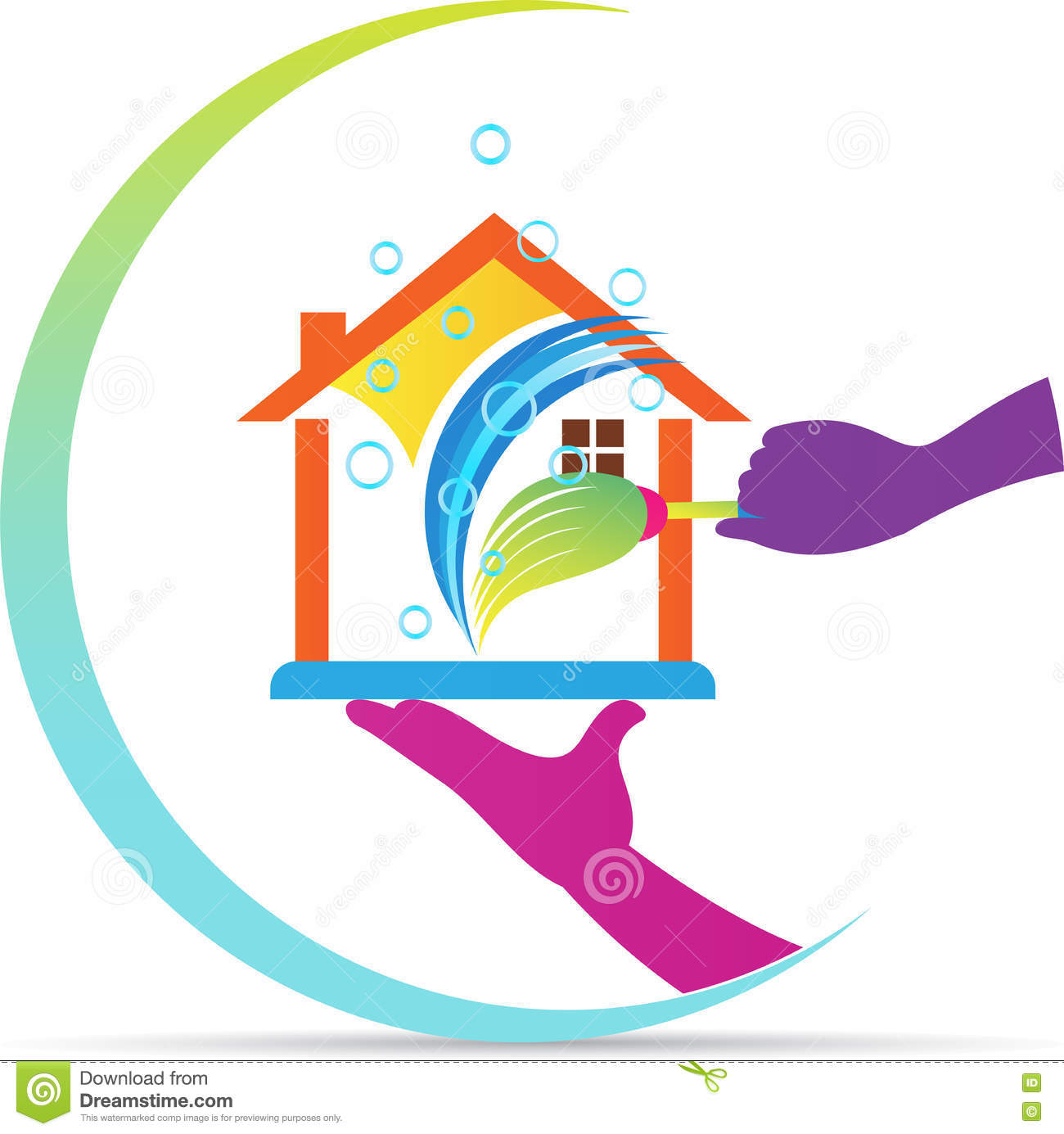 Home Cleaning Cartoon Vector Cartoondealer Com 39161467