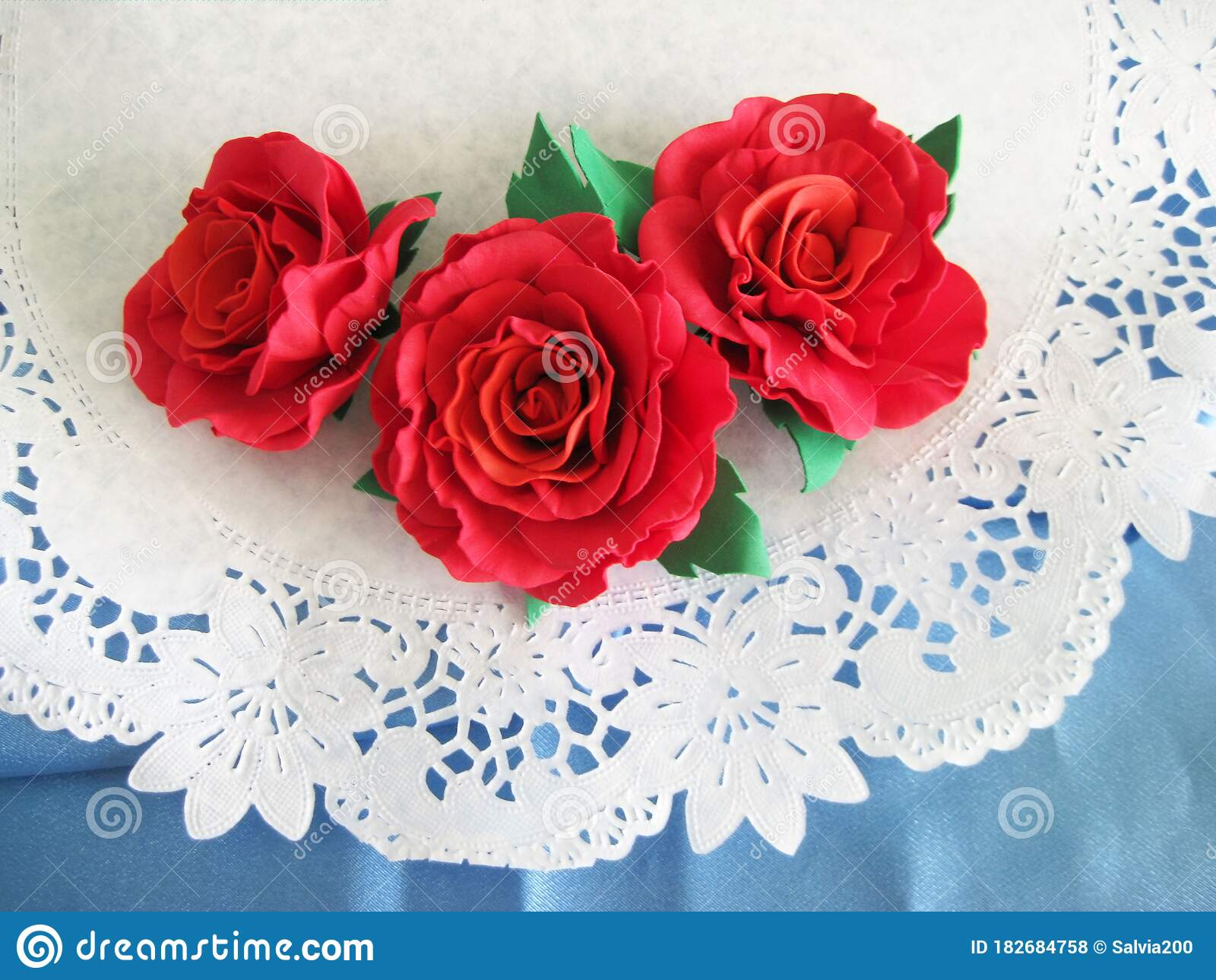 Home And Comfort Homemade Crafts On A White Napkin Roses Stock Photo Image Of Wallpaper Card 182684758