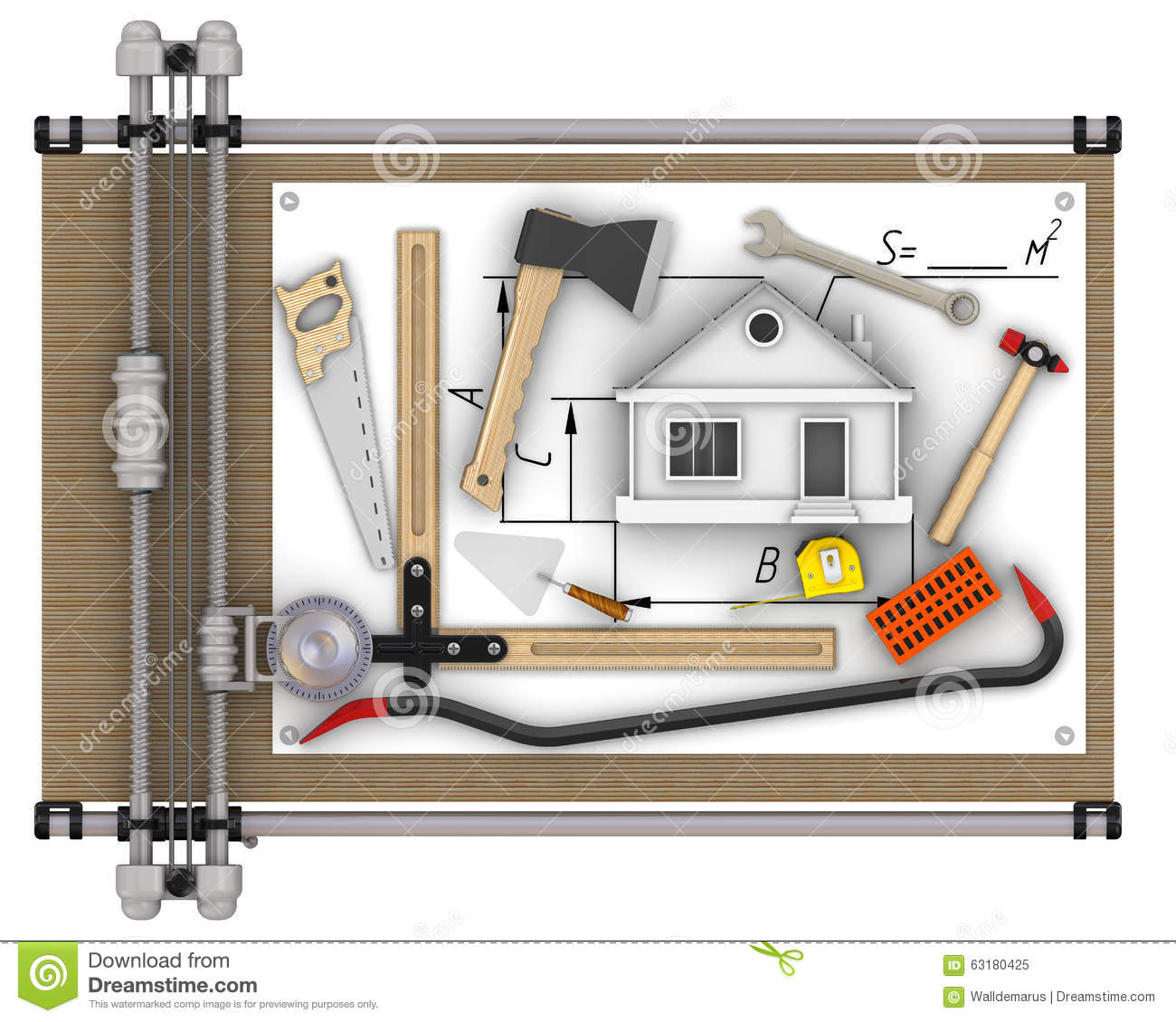 Home Construction Concept Stock Illustration Image